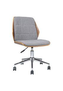 Cadeira Office Byartdesign May Cinza E Natural