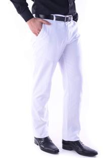 Calça 3035 Sarja Branco Traymon Modelagem Regular