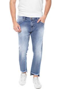 Calça Jeans Colcci Reta John Cropped Azul