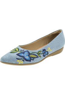 Sapatilha Feminina Azul Piccadilly - 254055