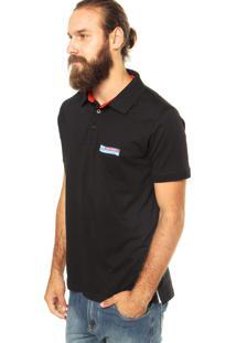 Camisa Polo Zebra Flag Preta