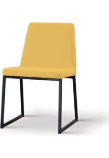 Cadeira Graty Amarela Base Preta - 55867 - Sun House