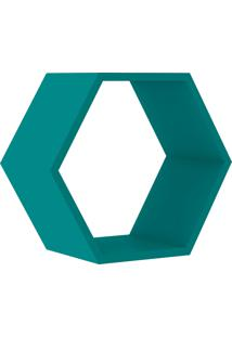 Nicho Hexagonal 400X346X180 Mm Turquesa Movelbento