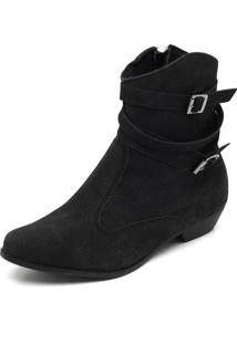 Bota Country Dafiti Shoes Fivelas Preta