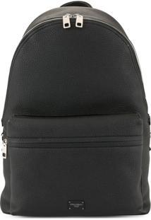 Dolce & Gabbana Logo Plaque Backpack - Preto