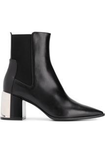 Casadei Ankle Boot Com Salto Bloco - Preto