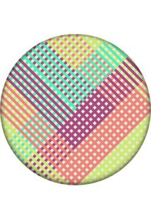 Tapete Love Decor Redondo Wevans Listras Multicolor 84Cm