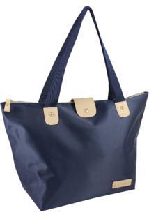 Bolsa Dobrável Tam. G Lisa Jacki Design Essencial I Azul Escuro