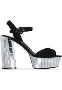Dolce & Gabbana Sandália Plataforma 'Belluci 120' - Preto