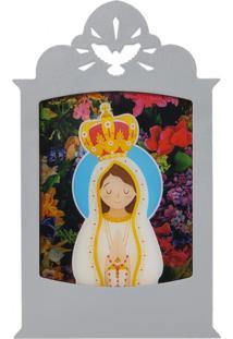 Luminária Carambola Nossa Senhora De Fátima Cinza