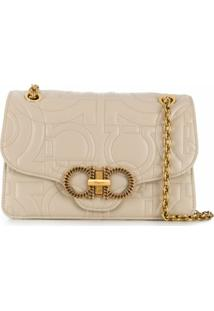 Salvatore Ferragamo Quilted Gancini Shoulder Bag - Neutro