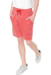 Bermuda Calvin Klein Jeans Reta Corrosão Vermelha