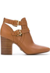 Michael Michael Kors Ankle Boot 'Blazer' De Couro - Marrom