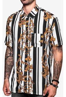 Camisa Viscose Listra Ornamentos 200443