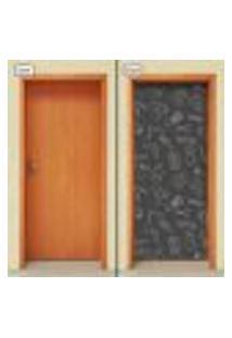 Adesivo Decorativo De Porta - Barbearia - 1526Cnpt