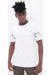 Camiseta Botânica Com Bolsinho