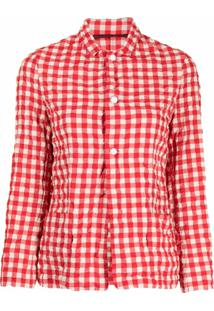 Daniela Gregis Gigham-Pattern Jacket - Vermelho