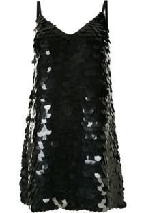 Dondup Vestido Mini Com Bordado - Preto