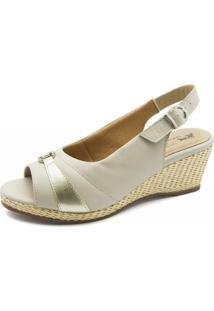 Sandália Anabela Doctor Shoes 612 Neve - Kanui