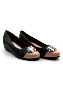 Sapato Moleca Salto Anabela - 5156770