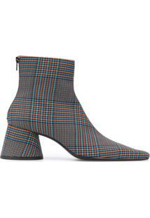 Mm6 Maison Margiela Ankle Boot Xadrez - Azul