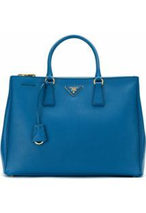 Prada Bolsa 'Galleria' De Couro - Azul