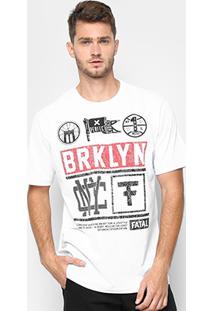 Camiseta Fatal Brooklyn Masculina - Masculino-Branco