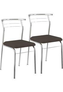 Cadeira-1708-Cromada-02 Unidades-Napa/Cacau-Carraro