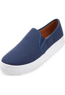 Slip On Lona Sense Way Gb19-1261 Marinho - Kanui