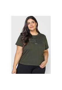 Camiseta Colcci Aplicações Verde