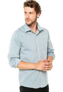 Camisa Sommer Tricoline Azul