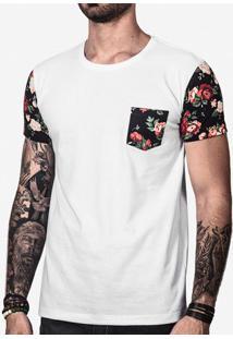 Camiseta Floral Manga 100827