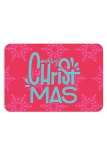 Tapete Decorativo Mdecore Natal Merry Christmas Vermelho 40X60Cm
