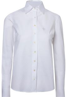 Camisa Ml Feminina No Vies (Branco, 44)