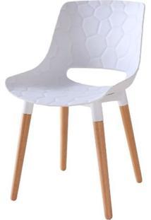 Cadeira Olivia Branca Base Madeira - 50073 Sun House