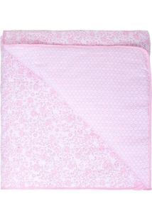 Edredom Compose Dupla Face- Rosa Claro & Rosa- 85X13Papi