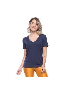 Camiseta New Beautiful V - Azul Escuro