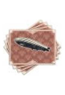 Jogo Americano - Dirigível Com 4 Peças - 607Jo