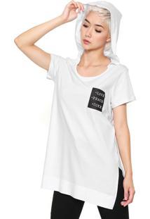 Camiseta Coca-Cola Jeans Alongada Branca