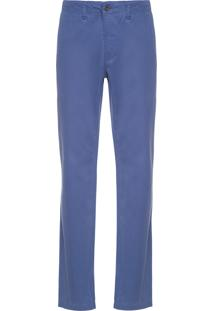 Calça Masculina Chino Light Classic Fit - Azul