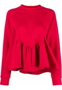 Atu Body Couture Blusa Mangas Longas Amplas - Vermelho