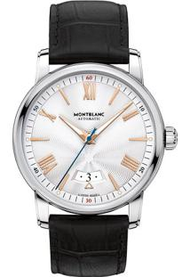 ab4dc24e44b Vivara. Relógio Masculino Couro Montblanc Preto ...