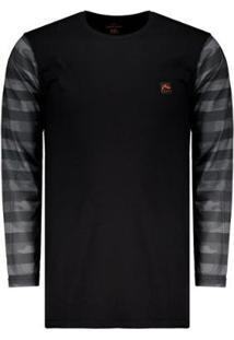 Camiseta Rusty Camo Manga Longa Masculina - Masculino