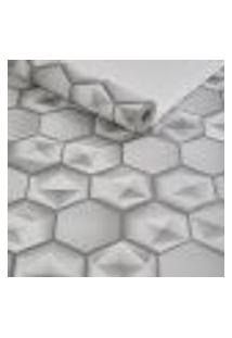 Papel De Parece Importado Lavavel Geometrico 3D Cinza