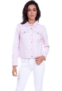 Jaqueta Jeans Levis Feminina Trucker Original Rosa Rosa
