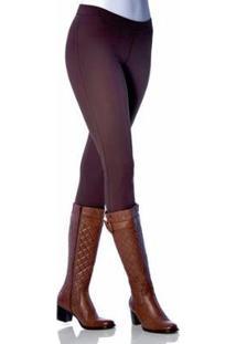 Calça Montaria Fashion Lupo Loba Feminina - Feminino-Marrom