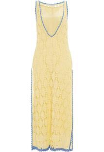 Jw Anderson Vestido De Crochê - Amarelo