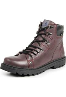 Bota Coturno Top Franca Shoes Casual Masculino - Masculino-Vinho