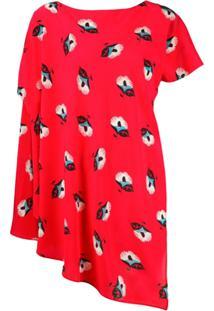 Etro Blusa Assimétrica - Vermelho