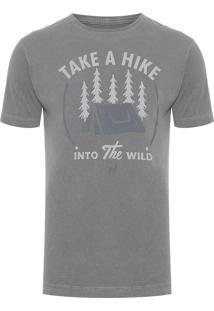 Camiseta Masculina Take A Hike - Cinza